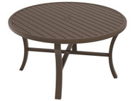 "Tropitone Banchetto 54"" Round Dining Table with Umbrella Hole"
