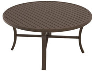 "Tropitone Banchetto 60"" Round Dining Table with Umbrella Hole"