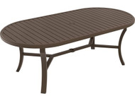 "Tropitone Banchetto 84"" x 42"" Oval Dining Table with Umbrella Hole"
