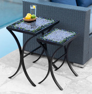 KNF Mosaic Belize Nesting Tables