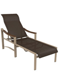 Tropitone Brazo Woven Chaise Lounge with Arms