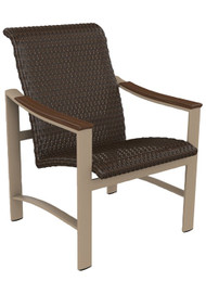 Tropitone Brazo Woven Dining Chair