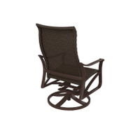 Tropitone Corsica Woven Swivel Action Lounger with Traditional Base