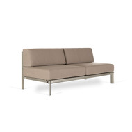 Brown Jordan Parkway Modular Sectional Armless Loveseat