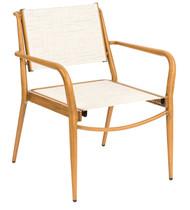 Woodard Daytona Sling Stacking Dining Arm Chair