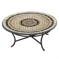 "KNF 36"" Round Slate Stone Coffee Table"