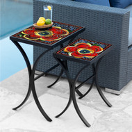 KNF Mosaic Zinnia Nesting Tables
