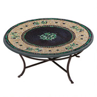 "KNF 42"" Round Black Olives Coffee Table"