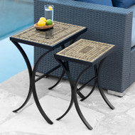 KNF Marble-Stone Nesting Tables