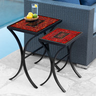 KNF Ruby Glass Nesting Tables