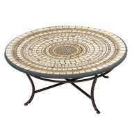 "KNF 42"" Round Marble Stone Coffee Table"