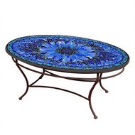"KNF 42"" Oval Bella Bloom Coffee Table"
