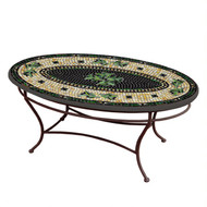 "KNF 42"" Oval Black Olives Coffee Table"