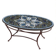 "KNF 42"" Oval Grigio Coffee Table"