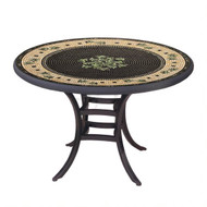 "KNF 36"" Round Black Olives Bistro Table"