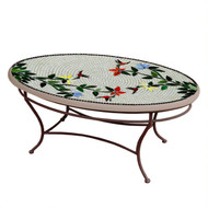 "KNF 42"" Oval Hummingbird Coffee Table"