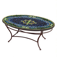 "KNF 42"" Oval Lake Como Coffee Table"