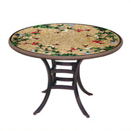 "KNF 36"" Round Caramel Hummingbird Bistro Table"