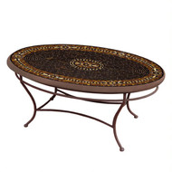 "KNF 42"" Oval Mahogany Atlas Coffee Table"