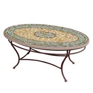 "KNF 42"" Oval Malibu Coffee Table"