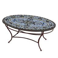 "KNF 42"" Oval Roma Coffee Table"