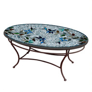 "KNF 42"" Oval Royal Hummingbird Coffee Table"