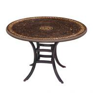 """KNF 42"""" Round Mahogany Atlas Bistro Table"""