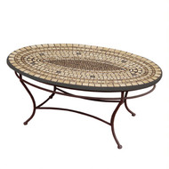 "KNF 42"" Oval Marble Stone Coffee Table"