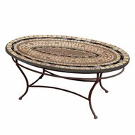 "KNF 42"" Oval Slate Stone Coffee Table"