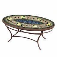 "KNF 42"" Oval Tuscan Lemons Coffee Table"