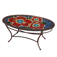 "KNF 42"" Oval Zinnia Coffee Table"