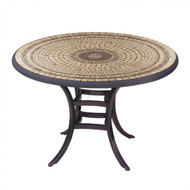 "KNF 36"" Round Marble Stone Bistro Table"