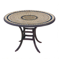 "KNF 36"" Round Slate Stone Bistro Table"