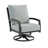 Tropitone Muirlands Cushion Swivel Action Lounge Chair