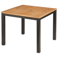 "Barlow Tyrie Aura 35"" Square Teak Top Dining Table"