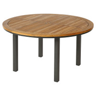 "Barlow Tyrie Aura 56"" Round Teak Top Dining Table"