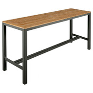 "Barlow Tyrie Aura 79"" Rectangular Teak Top Bar Table"