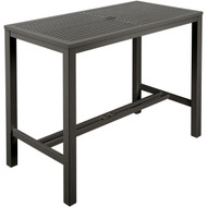 "Barlow Tyrie Aura 55"" Rectangular Aluminum Bar Table"