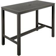 "Barlow Tyrie Aura 55"" Rectangular Aluminum Bar Table"