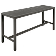 "Barlow Tyrie Aura 79"" Rectangular Aluminum Bar Table"
