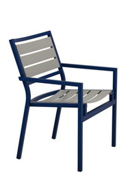 Tropitone Cabana Club Aluminum Slat Dining Arm Chair