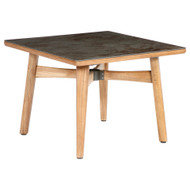 """Barlow Tyrie Monterey 39"""" Square Ceramic Top Dining Table"""