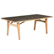 "Barlow Tyrie Monterey 79"" Rectangular Ceramic Top Dining Table"
