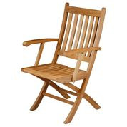 Barlow Tyrie  Ascot Teak Folding Dining Arm Chair