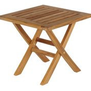 Barlow Tyrie  Ascot Teak Folding Footstool/ Side Table