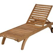 Barlow Tyrie  Capri Teak Standard Sun Lounger