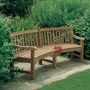 Barlow Tyrie Glenham Teak Curved Garden Bench