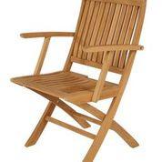 Barlow Tyrie Monaco Teak Folding Dining Arm Chair