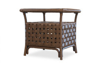 """Lloyd Flanders Haven 24"""" Square End Table With Glass"""