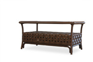 """Lloyd Flanders Haven 40"""" Rectangular Cocktail Table With Glass"""